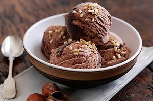 crème glacée au chocolat