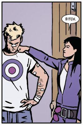 Clint Barton and Kate Bishop