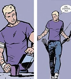 Clint Barton and Coffee