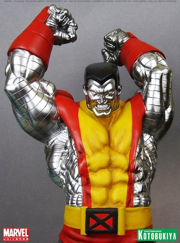 X-Men wallpaper with a breastplate and an armor plate titled Colossus / Piotr Rasputin X-men Figurine