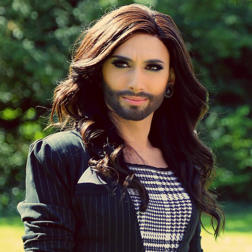 música fondo de pantalla with a portrait entitled Conchita Wurst