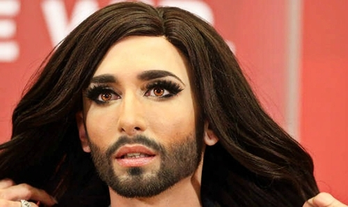música fondo de pantalla containing a portrait titled Conchita Wurst