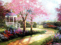 Cottage         - spring wallpaper