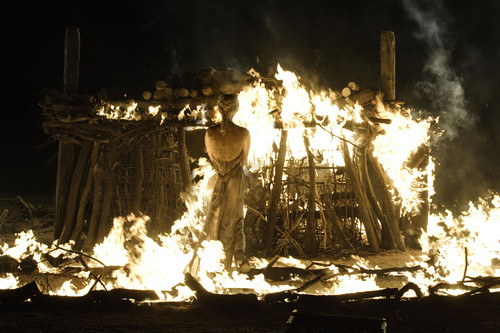 Daenerys Targaryen wallpaper containing a fire, a concert, and a fuoco titled Daenerys Targaryen Season 1