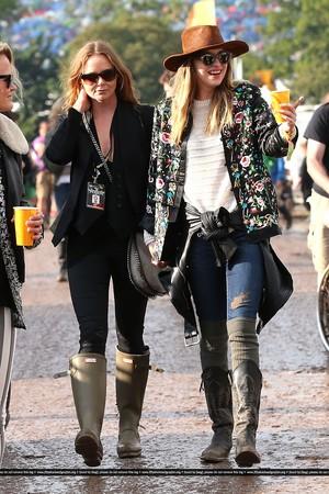 Dakota spotted at Glastonbury Festival (June 27th)