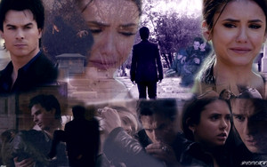 Damon n Elena wallpaper