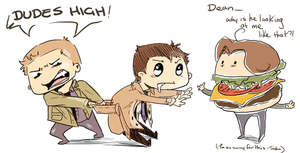 Dean, Sam and Cas