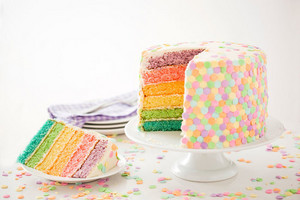 Delicious regenbogen Cake