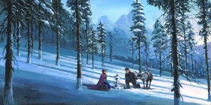 "ディズニー Fine Art: ""Cold Winter's Day"" によって Rodel Gonzalez:)"