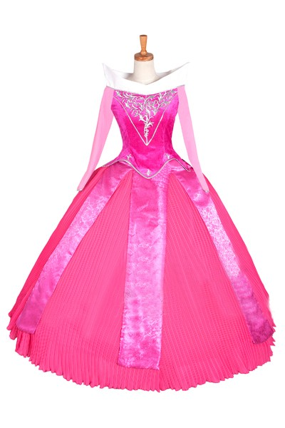 디즈니 Sleeping Beauty Princess Aurora cosplay costume