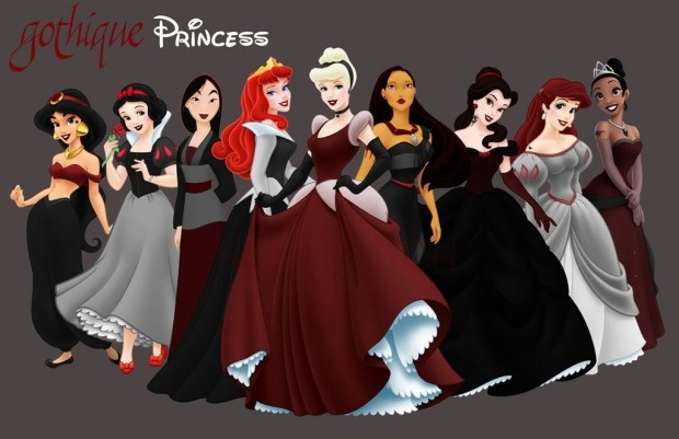 Disney princesses punk (or goth) version