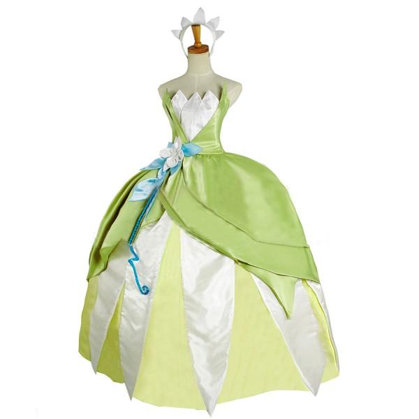 ディズニー the Princess and the Frog Princess Tiana cosplay costume