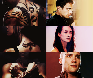 Divergent characters and their tattoos