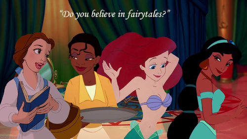 "disney crossover wallpaper entitled ""Do You Believe In Fairytales?"""