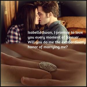 Edward's proposal to Bella
