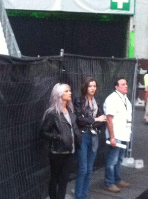 Eleanor and Lou Teasdale at the mostrar in Paris June 20th
