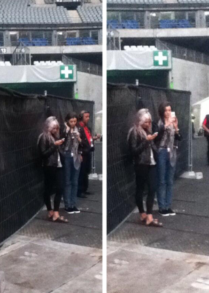 Eleanor and Lou Teasdale at the montrer in Paris June 20th