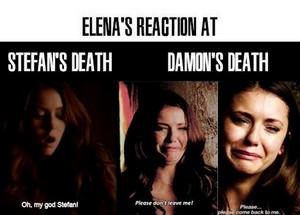 Elena's reactions
