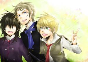 Elliot Nightray, Leo and Oz Vessalius