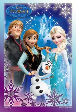 Elsa, Anna, Kristoff and Olaf