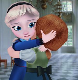 Elsa and Anna - Hug