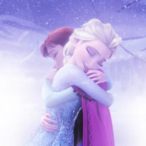 Elsa and Anna Hugging