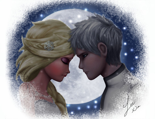 Frozen immagini elsa and jack frost hd wallpaper and background foto frozen wallpaper with a fontana entitled elsa and jack frost altavistaventures Choice Image