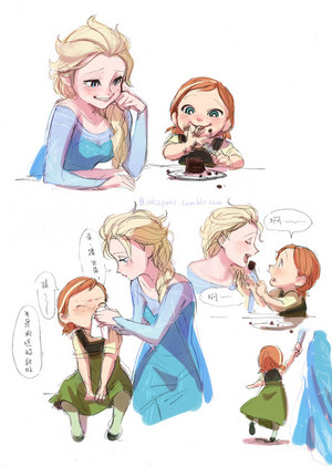 Elsa and Young Anna