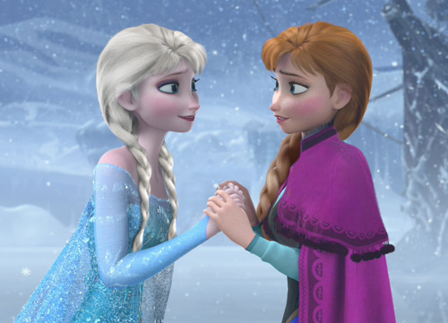 Elsa in Anna hairstyle, Anna in Elsa hairstyle