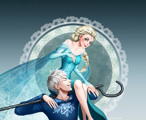 Elsa on Jack's Shoulder