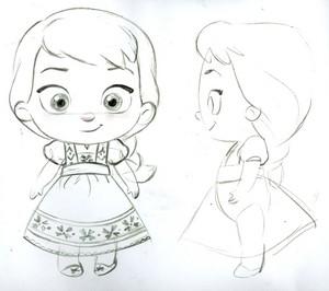 Elsa toddler plush concept art