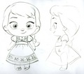 Elsa toddler plush concept art