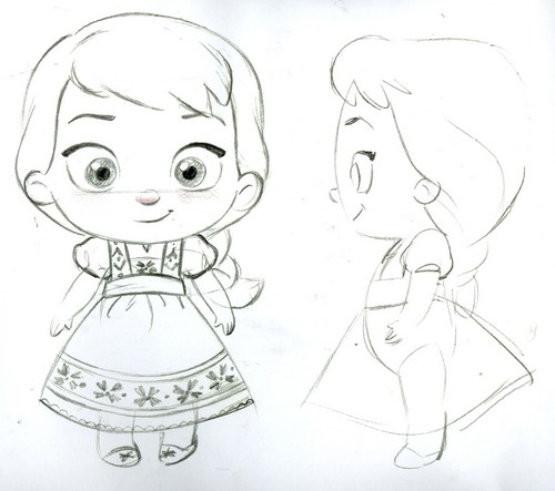 Frozen wallpaper entitled Elsa toddler plush concept art
