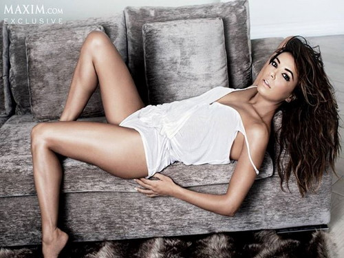 Eva Longoria wallpaper probably containing bare legs, a chemise, and tights called Eva