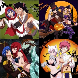 Fairy Tail Couples Happy Halloween