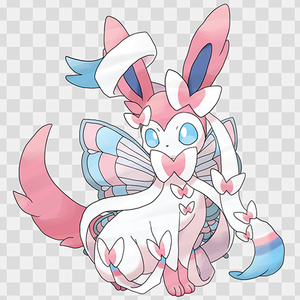 Pokemon Eevee Sylveon Card Fairy Type Pokémo...