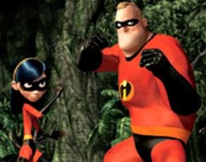 Father and daughter, Bob (mr. Incredible) and Violet. Happy Father's Day!