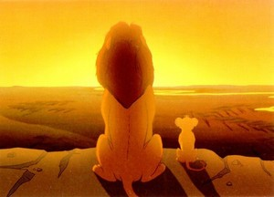 Father and son, mufasa and simba. Happy Father's Day!