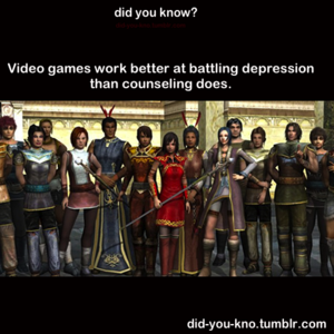 Fight Depression with Gaming