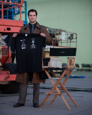First photo of Henry Cavill as Clark Kent in Batman v Superman: Dawn of Justice
