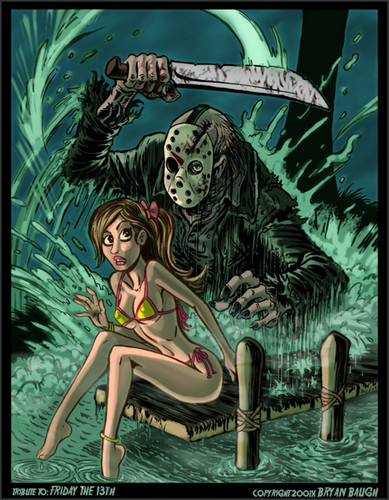 film horror wallpaper with anime entitled Friday the 13th