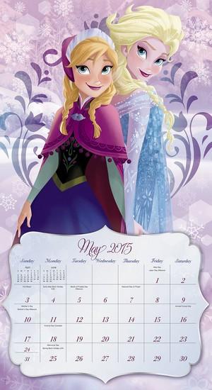ফ্রোজেন 2015 দেওয়াল Calendar