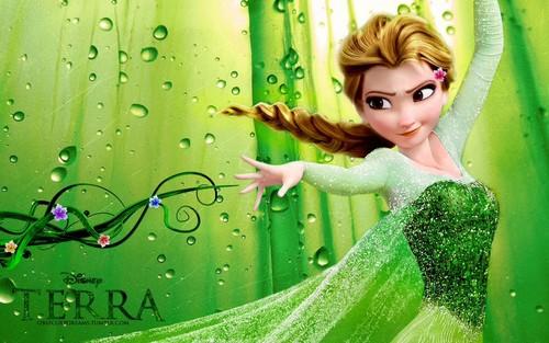Disney karatasi la kupamba ukuta titled Frozen: Element swapped to earth (Terra)