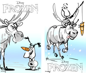 Frozen Posters Concept Art