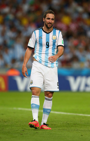 G. Higuain playing for Argentina