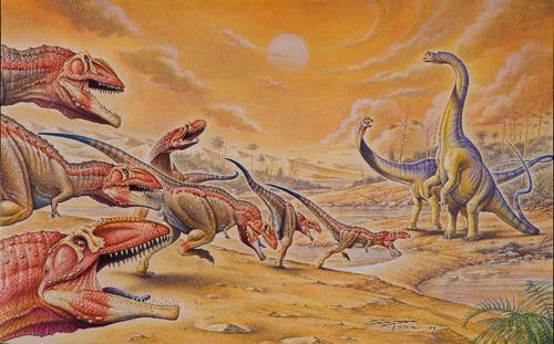 Dinosaurs wallpaper entitled Gigantosaurus and Argentinosaurus