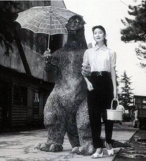 Godzilla goes on date?