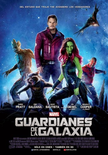 Guardians of the Galaxy 바탕화면 with 아니메 titled Guardianes de la Galaxia - International Poster