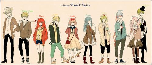 Happy 木, ツリー Friends(ハッピー・ツリー・フレンズ) 壁紙 titled HAPPY 木, ツリー フレンズ アニメ CHARACTERS