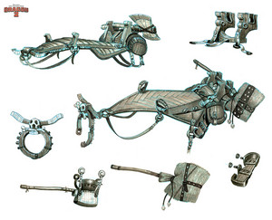 HTTYD 2 - Saddle designs for Astrid and Stromfly